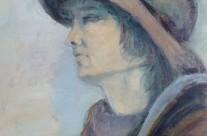 Maryline au chapeau