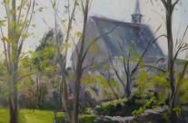 Le clocher de Ligugé