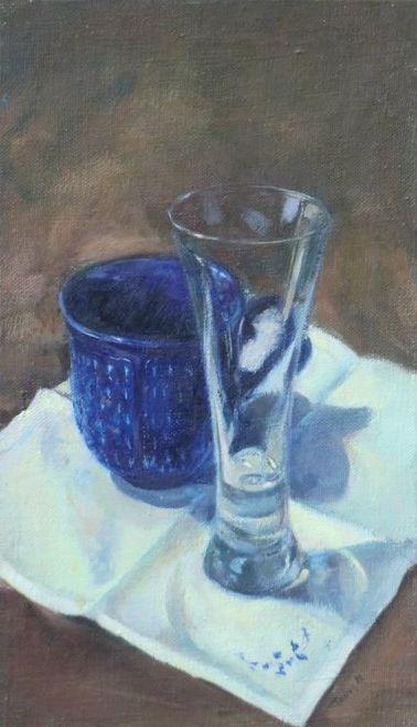 La tasse bleue