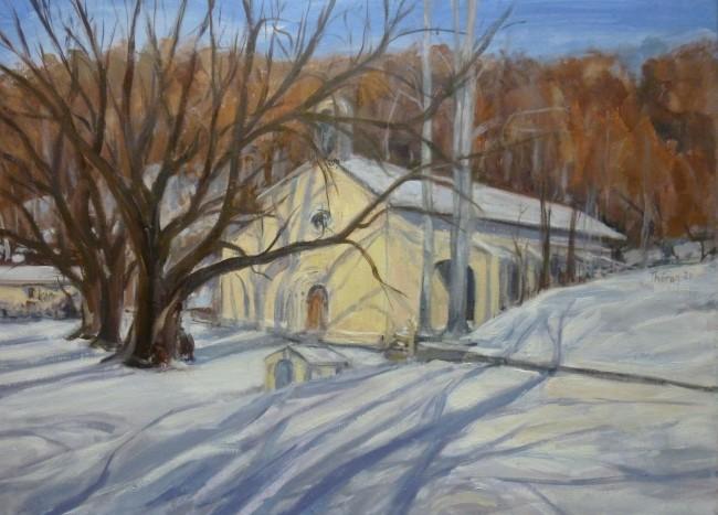 Notre Dame de Lure sous la neige